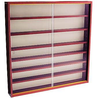 Reveal - 6 Regal Glas Wand Collectors Cabinet - Mahagoni anzeigen