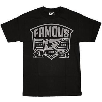 Famous Stars and Straps High Crest T-shirt schwarz grau
