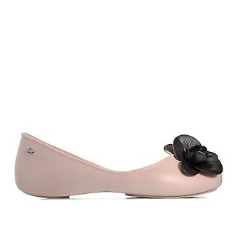 Womens Zaxy Stories Flower Shoes In Blush Contrast- Slip On- Contrasting Flower