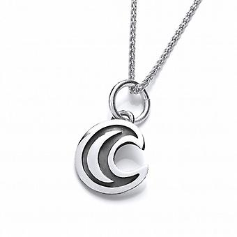 Cavendish French Silver Eclipse Moon Pendant
