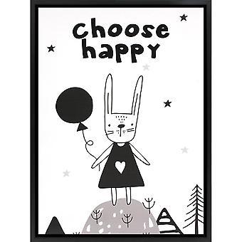 Grindstore Choose Happy Canvas Print