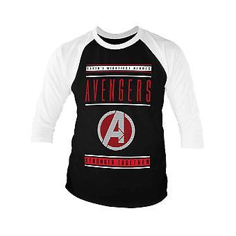 Vendicatori Endgame Baseball camicia più forte insieme ufficiale Mens nero manica 3/4