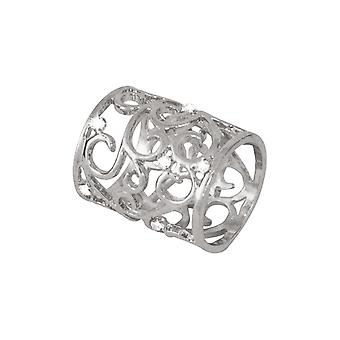 Eternal Collection Artiste Clear Crystal Silver Tone Scarf Ring