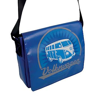 Official VW Camper Van T1 Tarpaulin Laptop Messenger Bag - Blue