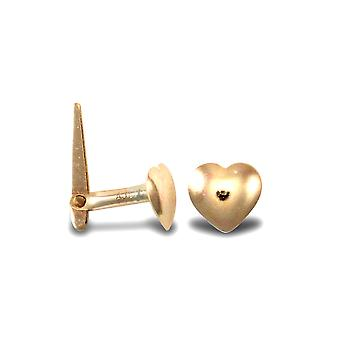 Jewelco London Ladies 9ct Yellow Gold Love Heart Hinged Nose Stud