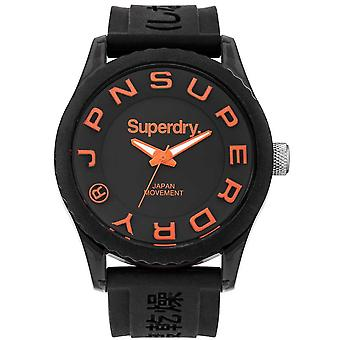Superdry Tokyo Watch Japanese Quartz Analog Man Watch with SYG145B Rubber Bracelet