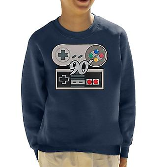 NES SNES 90s Gamer Kid's Sweatshirt