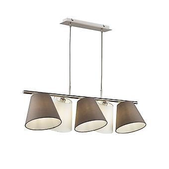Maytoni Lighting Tarrasa Nickel Pendant Lamp 5 X 40W
