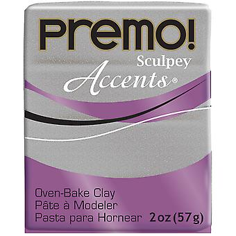 Premo Accents Sculpey Polymer Clay 2oz-White Gold Glitter PE022-5132