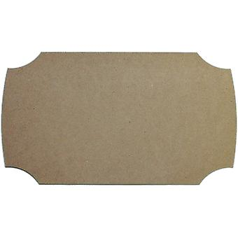 Unfinished Mdf Plaque 1 Pkg Modern 6.5