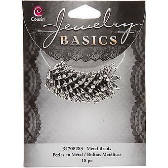 Jewelry Basics Metal Beads 18 Pkg Silver Large Star Cap 34708283