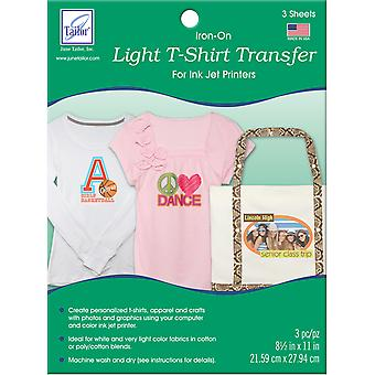 Light T Shirt Inkjet Transfers 8 1 2