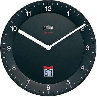 Radio Wall clock Braun 66012 20 cm Black