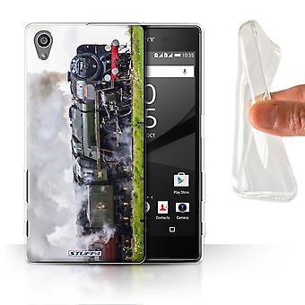 STUFF4 Gel/TPU Case/Cover for Sony Xperia Z5/5.2/Cromwell/Green/Steam Locomotive