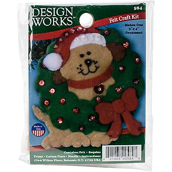 Dog Ornament Felt Applique Kit-3
