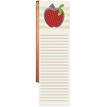 Magnetic List Pad With Pencil-Apple 1922-6