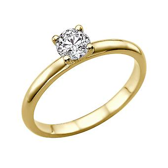 1 Carat G VS1 Diamond Engagement Ring 14K Yellow Gold Solitaire Plain Round
