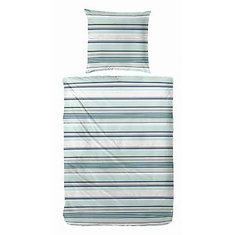 COCK of microfiber bed linen 135 x 200 cm Green striped