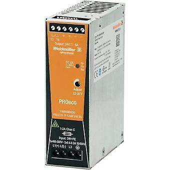 Rail mounted PSU (DIN) Weidmüller PRO ECO 120W 24V 5A 24 Vdc 5 A 120 W 1 x