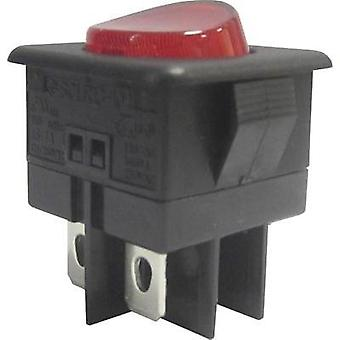 Toggle switch 250 Vac 10 A 1 x Off/On SCI R13-104B-01 RED ACTUATOR latch 1 pc(s)