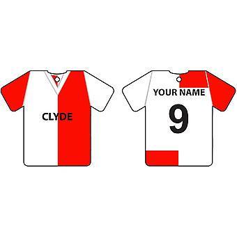 Personalised Clyde Football Shirt Car Air Freshener