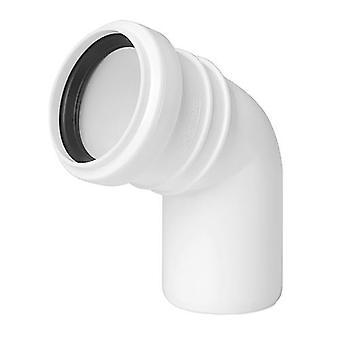 Avlopp armbåge Connector gemensamma 50mm röret Diameter 67deg monteringsvinkeln