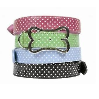 Doggy Things POLKA AZUL COLLAR (Dogs , Walking Accessories , Collars)