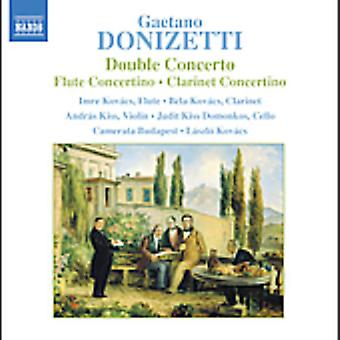 G. Donizetti - Donizetti: Double Concerto; Concertino de flûte; Importation de Clarinette USA Concertino [CD]