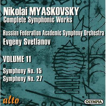 N. Mjaskovskij - Mjaskovskij: Symfonier nr 15 & 27 [CD] USA import