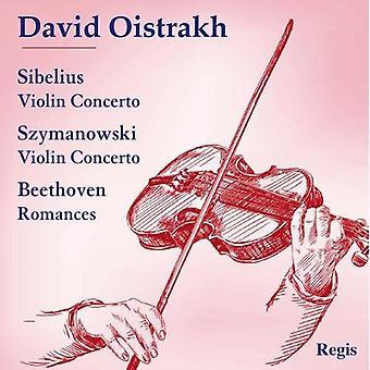 David Oistrakh - Sibelius: Violinkoncert; Szymanowski: Violinkoncert; Beethoven: Romancer [CD] USA importerer