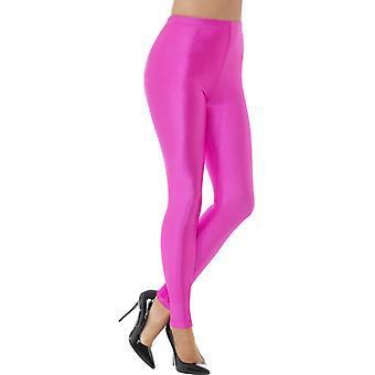 80s disco leggings neon pink
