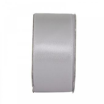Anita's Soft Silver Wide Satin Ribbon