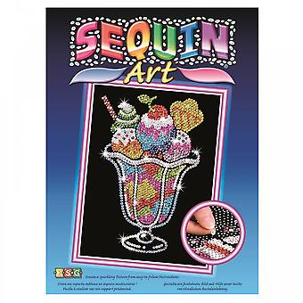 Sequin Art Ice Cream Sundae Sequin Art