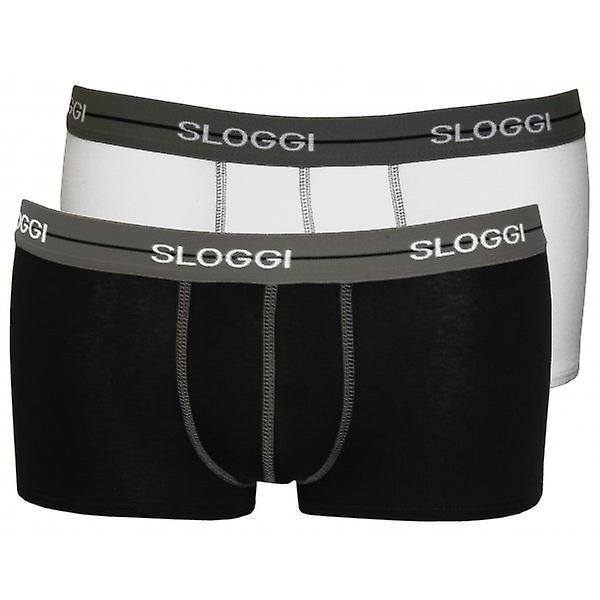 Sloggi 2-Pack Start Hipster Boxer badebukser, hvitt