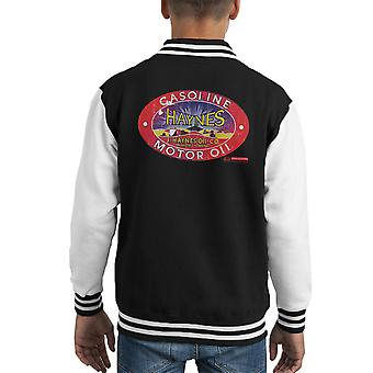 Haynes Brand J Haynes Oil Co Gasoline Motor Oil Kid's Varsity Jacket