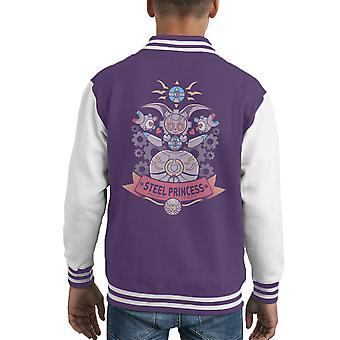 Staal van prinses Magearna Pokemon Kid's Varsity Jacket