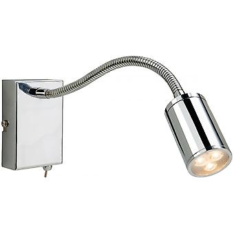 Firstlight Modern Chrome Steel Adjustable Neck Wall Light