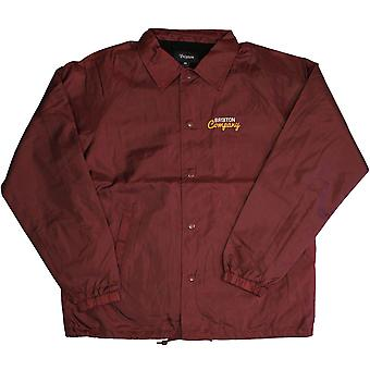 Brixton Ditmar Windbreaker Jacket Red