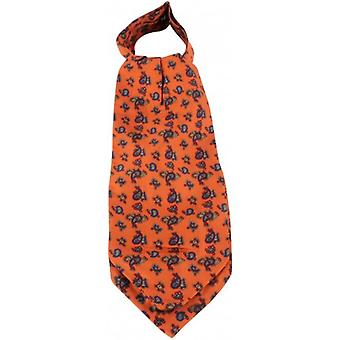 Knightsbridge cravatte foulard di seta Paisley - Orange