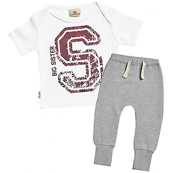 Spoilt Rotten Big Sister Baby T-Shirt & Joggers Outfit Set