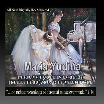 Maria Yudina - Visions Fugitives Op. 22 (urval) 1 Lentamente [CD] USA import