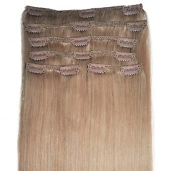 #18 Golden Blonde - Clip-in Hair Extensions - Full Head