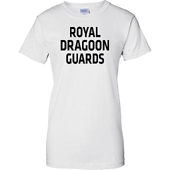 Licenseret MOD - britiske hær Royal Dragoon Guards - tekst - damer T Shirt