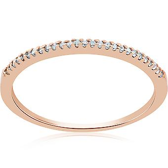 1 / 6ct Diamant Ring 14K Rose Gold