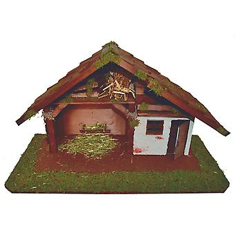 Crib Nativity scene wood Nativity stable LEVI hand work for characters up to 12 cm
