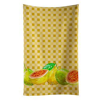 Carolines Treasures  BB7172KTWL Guavas on Basketweave Kitchen Towel