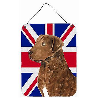 مجعد المسترد المغلفة بالإنجليزية الاتحاد جاك العلم البريطاني الجدار أو الشنق الباب