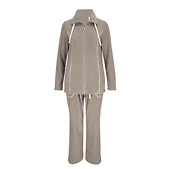 Rosch 1889511-11394 Women's Brown-Beige Cotton Pajama Sleepwear Pyjama Set