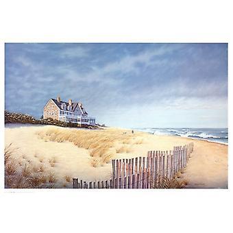 Beach House Poster Kunstdruck von Daniel Pollera (36 x 24)