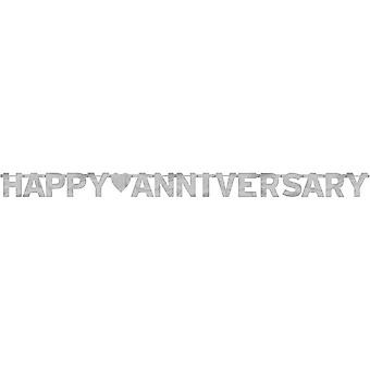 Amscan Foil Letter Banner - Anniversary Silver